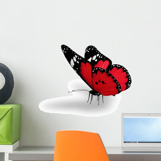 Red butterfly Wall Decal