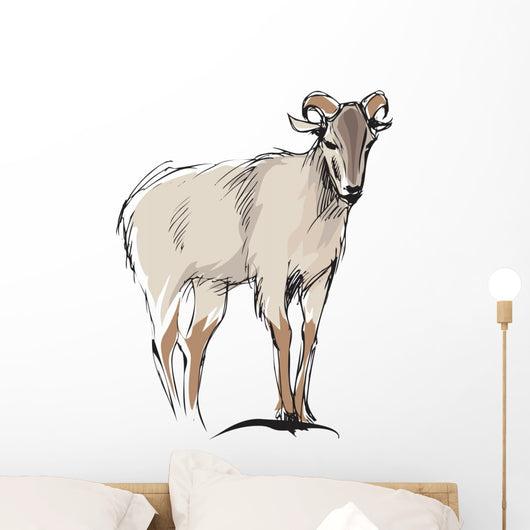 mountain goat Wall Decal