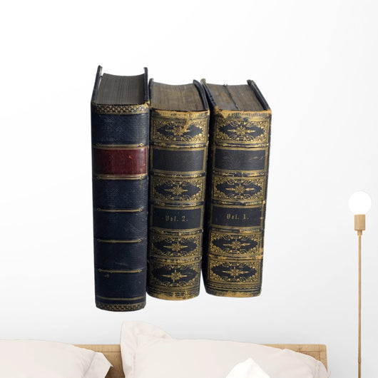 Antique Books Wall Decal
