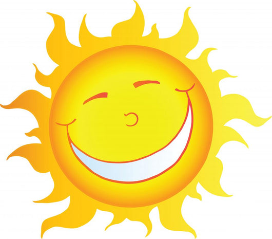 Happy Smiling Sun Character