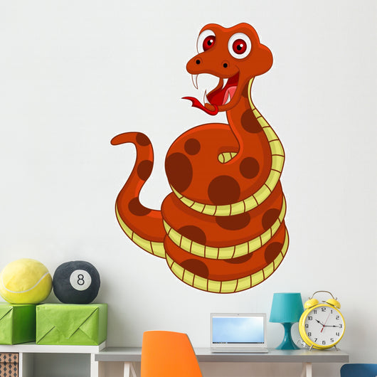 Funny Snake Wall Decal