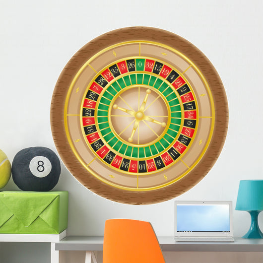 roulette casino illustration Wall Decal