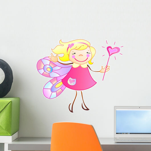 The Princess Has the Wings and Magic Wand Wall Decal