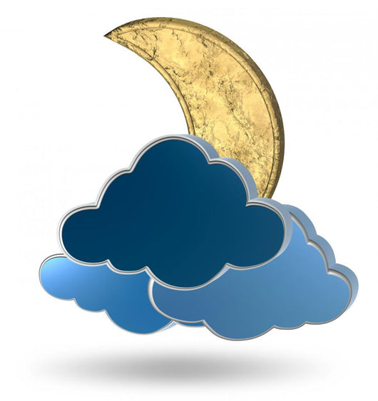 Gold Crescent Moon and