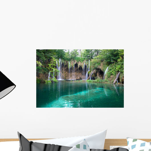 Lake and Waterfalls Wall Mural