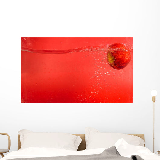 Apple Red Water Wall Mural
