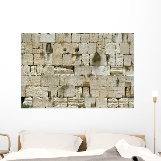 cut out of the wailing western wall, jerusalem, israel Wall Mural