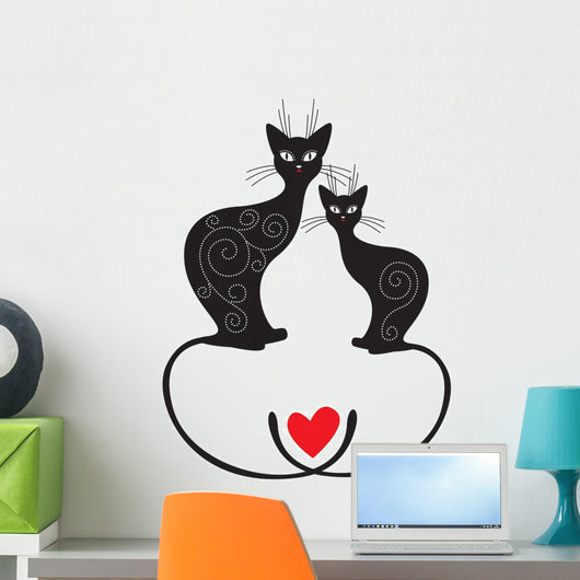 Pair of cats Wall Decal
