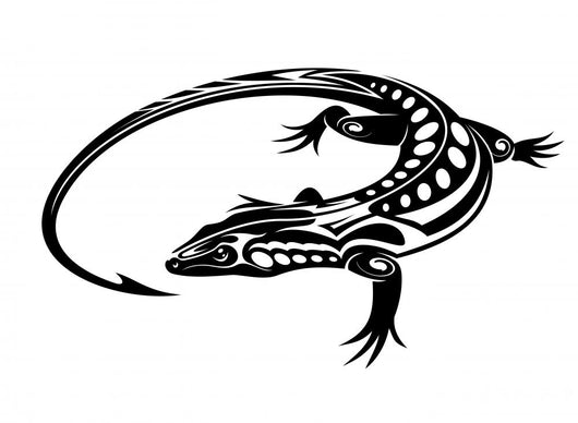 Black iguana lizard Wall Decal