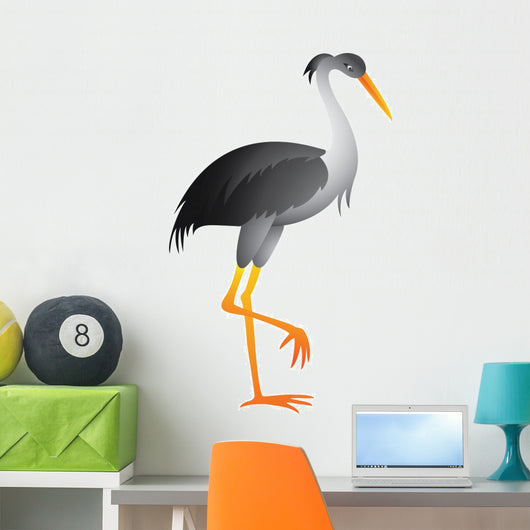 Heron Cartoon Wall Decal