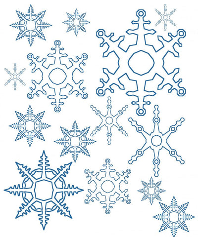 different snowflakes mix background Wall Mural