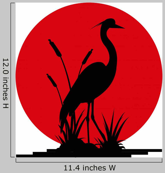 Heron Silhouette with Giant