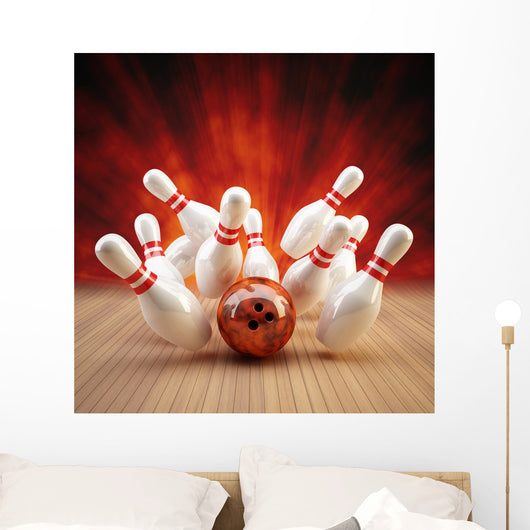 Bowling Strike Red Orange