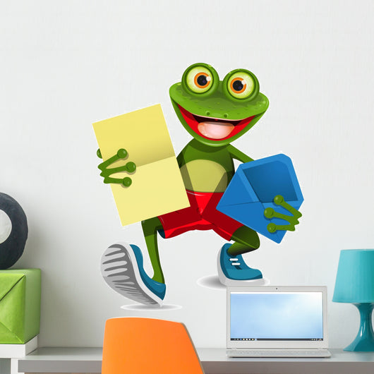 Frog with a letter Wall Decal