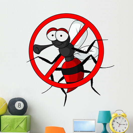 stop mosquito cartoon Wall Decal