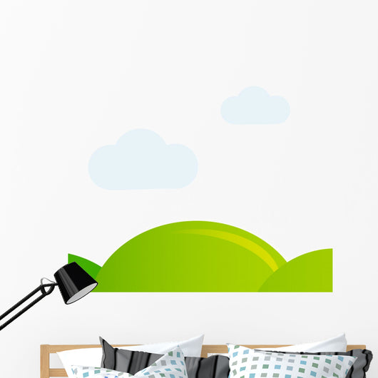 Meadow isolated on white vector background Wall Decal