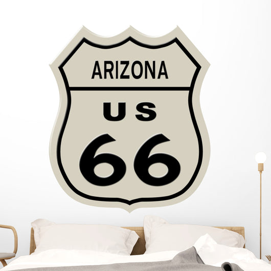 Route 66 sign, Arizona state. High resolution illustration Wall Decal