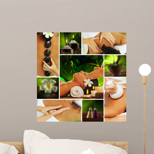 spa collage Wall Mural