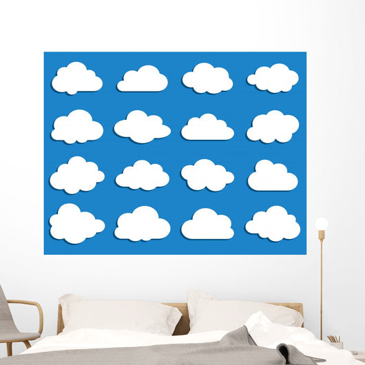 Collection of Vector Clouds Wall Decal