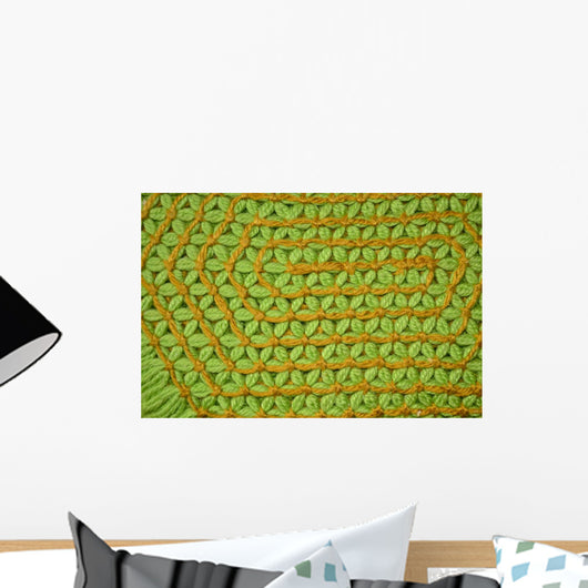 Green and Orange Loom Wall Mural