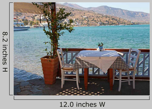 Beautiful Outdoor Restaurant Crete