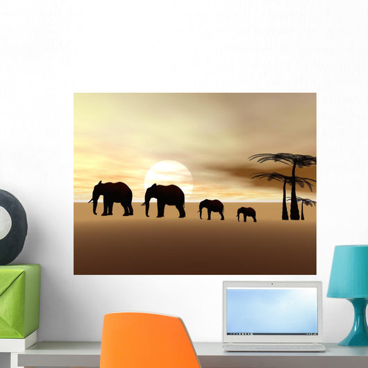 elephants Wall Mural