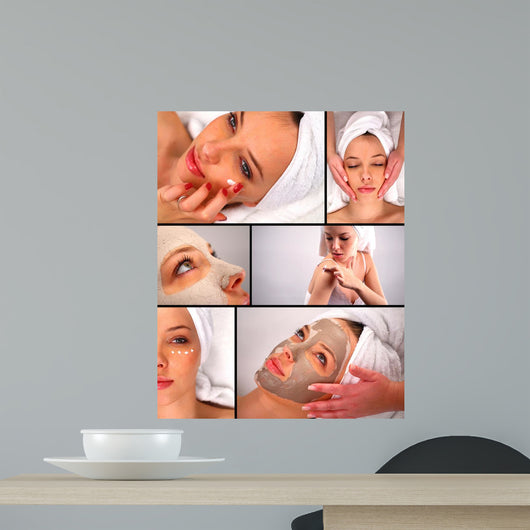 Beauty treatment collage Wall Mural