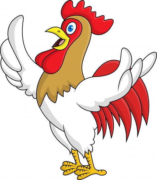 Rooster with thumb up Wall Decal