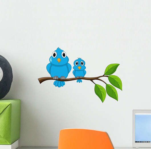 Bird Sitting on Branch Wall Decal