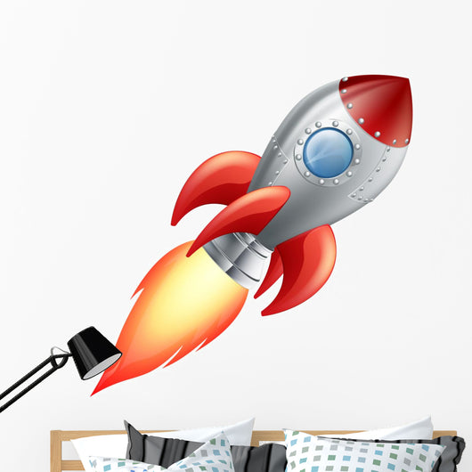 Rocket Space Ship Wall Decal