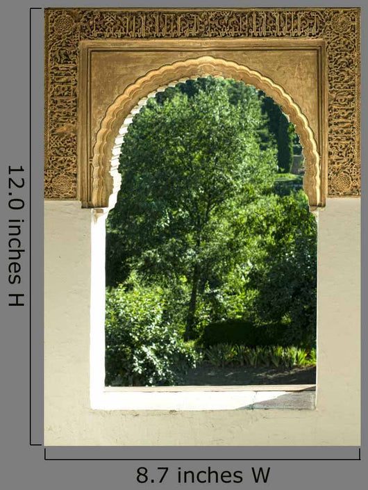 Islamic Motifs Arch Window