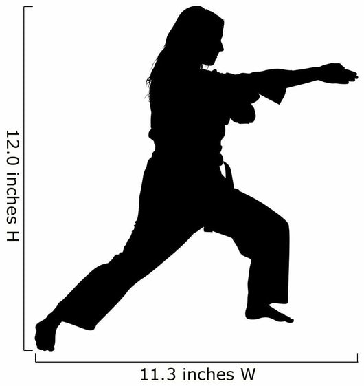 Clipping Path of Martial Arts Woman Wall Decal