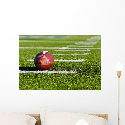 Football on Field Wall Mural