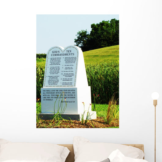 Ten Commandments Wall Mural