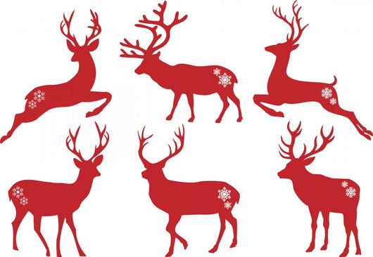 Christmas Deer Stags Vector