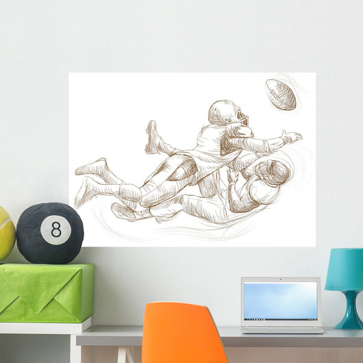 American Football Theme Full-sized Wall Mural