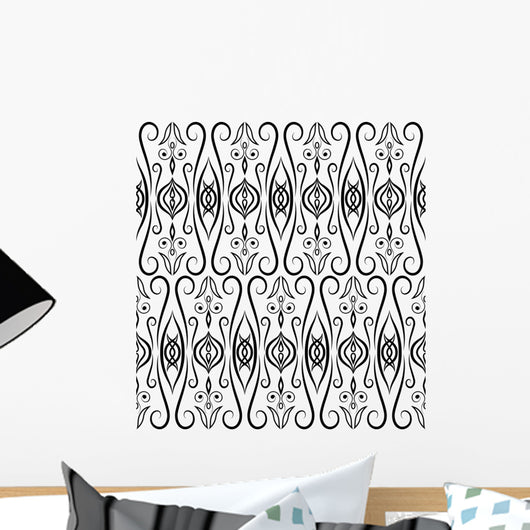 Eastern Seamless Pattern Black