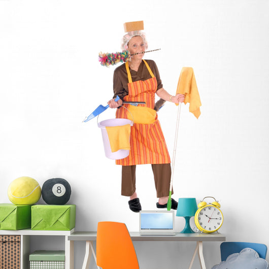 Cleaning Housewife Wall Decal