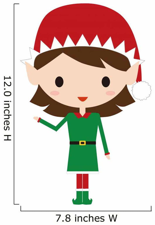 Christmas Elf Wall Decal