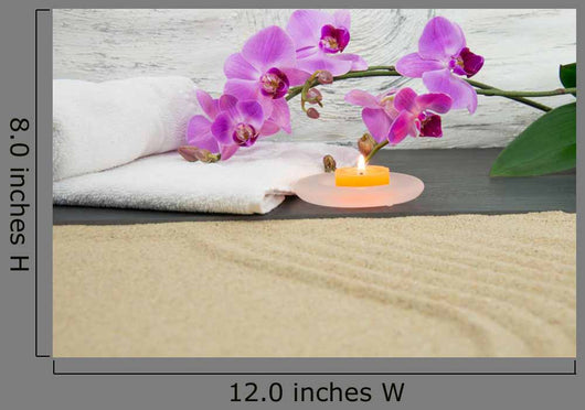 Orchid Candles and Sand