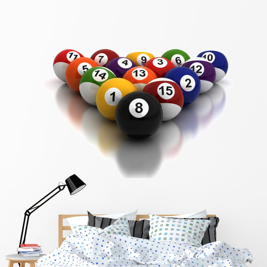 Billiards Balls Wall Decal