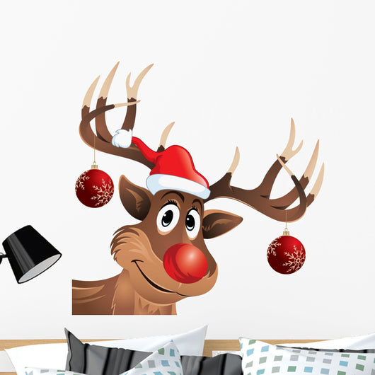 Rudolph Red-nose Reindeer Wall Decal