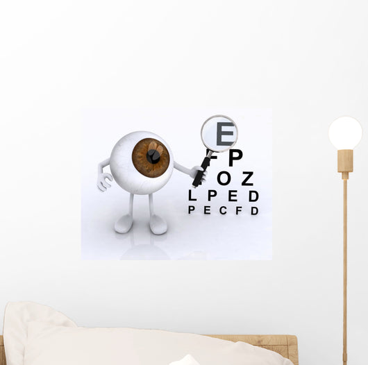 Eye Magnifying Glass Wall Mural