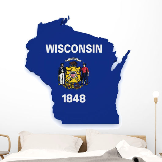 Wisconsin Map Wall Decal