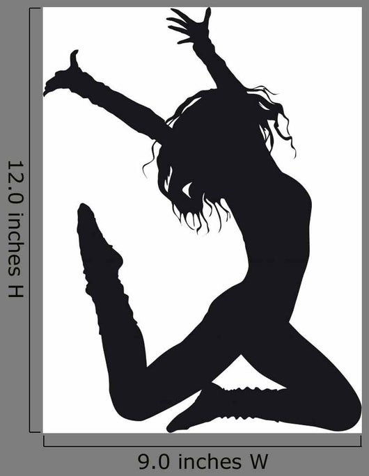 Dancer Silhouette White