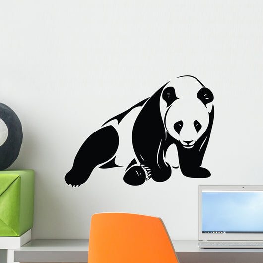 Isolated Panda Illustration Wall Decal