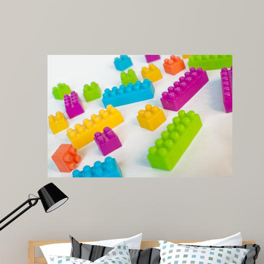 Colorful Lego Blocks Wall Mural