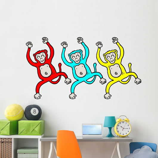 Happy Monkeys Wall Mural