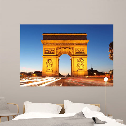 Famous Arc De Triomphe in the Evening Wall Mural