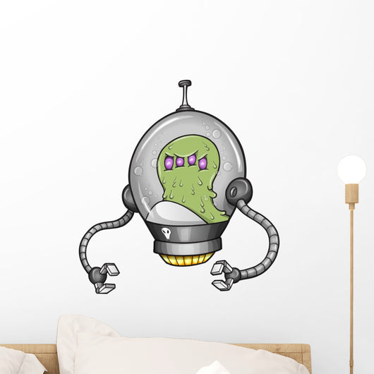Alien Warrior Soldier Robot Cyborg Vector Wall Decal
